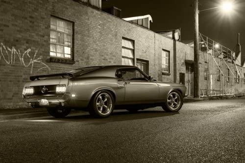 Poster of Ford Mustang Fastback HD B/&W Print Multiple Sizes Available