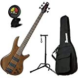 Ibanez GSR205BWNF 5 String Walunt Flat Finish Electric Bass with Gig Bag, Stand,