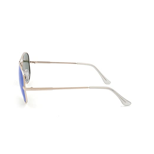 OCEAN SUNGLASSES Banila aviator - lunettes de soleil en MÃBlackrolltal - Monture : DorÃBlackroll - Verres : Revo Bleu (3701.2) I3Ytxn6