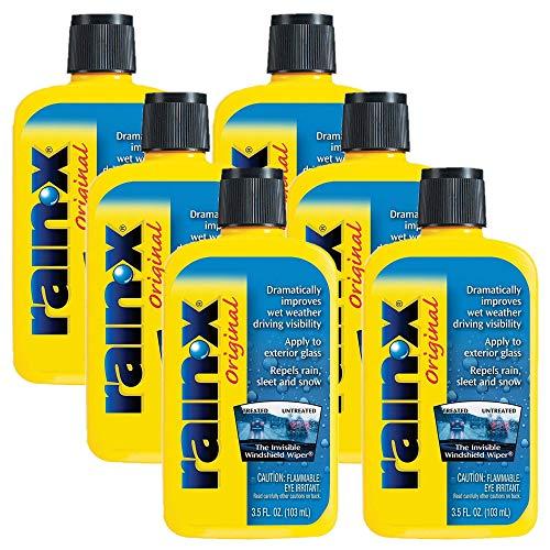 Water Repellent Treatment - Rain-X Original Windshield Treatment Glass Water Repellent 6-Pack