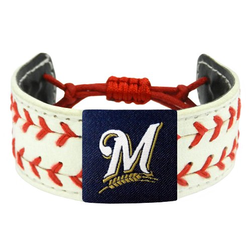 Milwaukee Brewers Classic Baseball - MLB Milwaukee Brewers Classic Two Seamer Bracelet