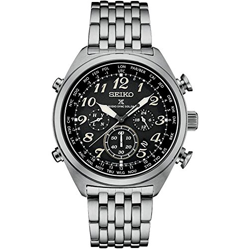 Mens PROSPEX Radio Controlled WT Solar Chrono Watch w/ Date - Seiko SSG017