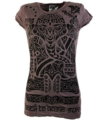 Certo Dicotone shirt Tribal T Taupe Sure` shop Ganesha Guru Camicie wnRPtAqF