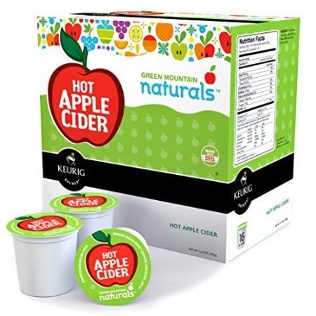 Green Mountain Naturals Hot Apple Cider Keurig K-Cups, 16 Count by Horarary