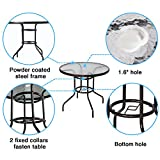 """Cloud Mountain 32"""" Outdoor Dining Table Patio"""