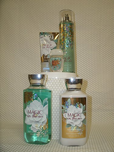 Bath and Body Works New Magic in the Air Large Gift Set, 8 oz Body Lotion, 10 oz Shower Gel, 8 oz Fragrance Mist, 2.5 oz Body Cream and 1 oz Anti Bacterial Hand Gel