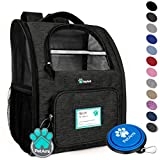 Cheap PetAmi Deluxe Pet Carrier Backpack for Small Cats and Dogs, Puppies | Ventilated Design, Two-Sided Entry, Safety Features and Cushion Back Support | for Travel, Hiking, Outdoor Use (Heather Charcoal)