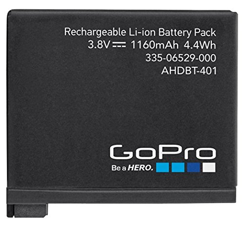 GoPro Rechargeable Battery (for HERO4 Black/HERO4 Silver) (GoPro Official Accessory) by GoPro