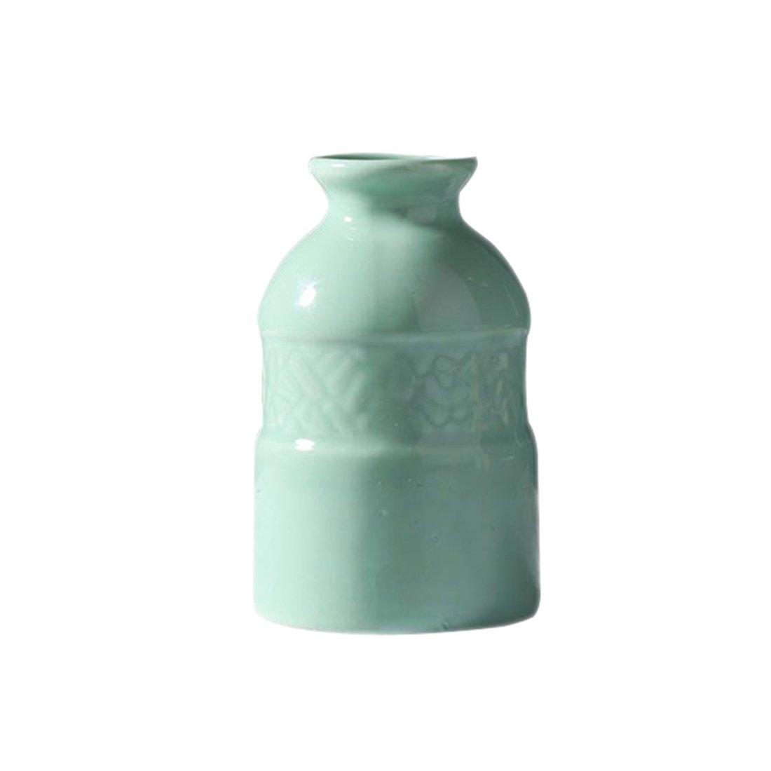 TOOGOO 3unids florero de Ceramica Creativa Oficina Escritorio Decoracion Flores Manualidades Simples Ceramica aromaterapia Botella (Azul, Rosa, ...