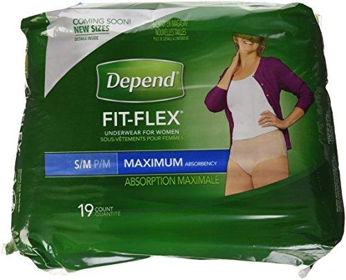 Depends Maximum Absorbency Underwear for Women, Small/Medium, 19 ct