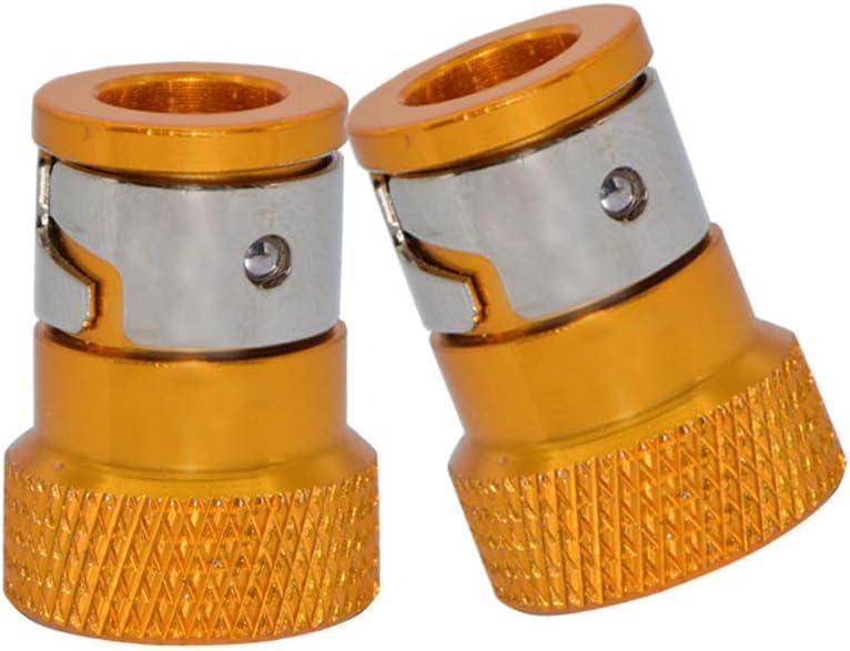 Acero magn/ético extra/íble para Puntas de Destornillador de 6.35 mm Accesorios de Herramientas el/éctricas de Mano multifunci/ón MZY1188 Anillo de im/án Universal Multifuncional de 2 Piezas