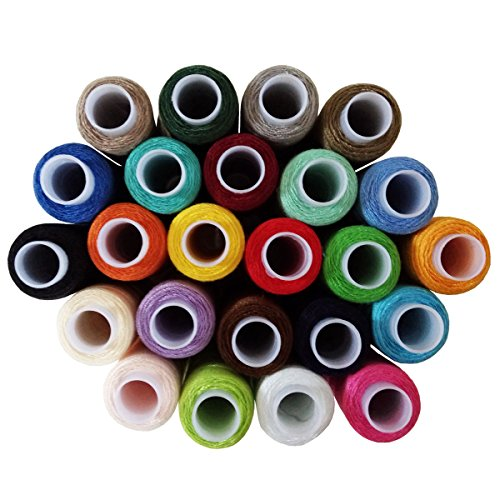 (Cutegirl 24 Colour Spools Finest Quality Sewing Cotton Thread Reel 240 Yard )