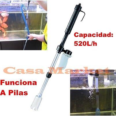 ASPIRADOR LIMPIADOR BOMBA SIFON LIMPIAFONDOS A Pila Para Pecera,Acuario,Gambaria AS-615: Amazon.es: Electrónica