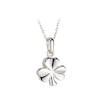 Amazon shamrock necklace sterling silver made in ireland jewelry shamrock necklace sterling silver made in ireland audiocablefo