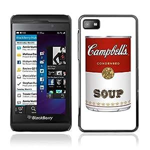 CASETOPIA / Soup Warhol / Blackberry Z10 / Prima Delgada SLIM Casa Carcasa Funda Case Bandera Cover Armor Shell PC / Aliminium