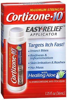 Easy Relief Applicator - Maximum Strength Cortizone-10 Easy Relief Applicator Anti-Itch Liquid - 1.25 oz, Pack of 5