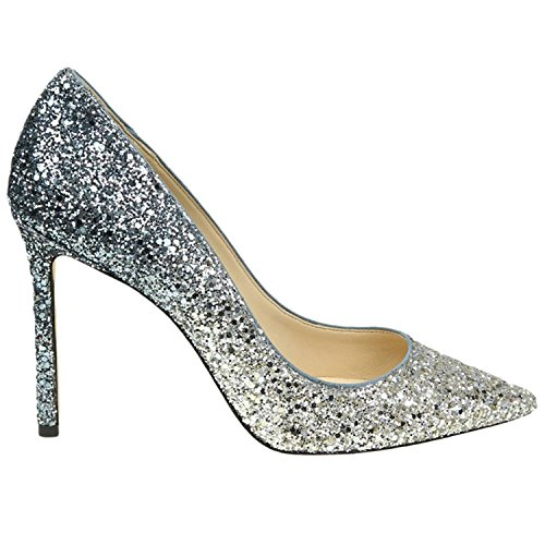 JIMMY CHOO Women's Romy100bre Silver Glitter - Choo Jimmy For Shoes Women