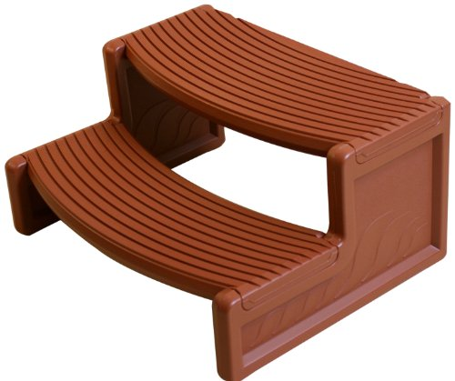 Confer HS2MR 29'x23'x14' Handi-Step for Round/Straight Sided Spa - Medium Red