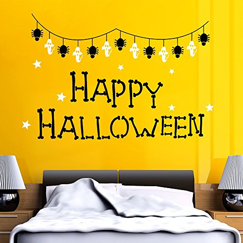 43SabrinaGill Halloween Wall Decals Spider Web Decal Ghost Stickers Star Vinyl Holiday Decor Art Home Kids Room Decor 38