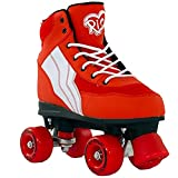 Rio Roller Skates Unisex Children, Multicolor (Red/White), 4 UK (37 EU)