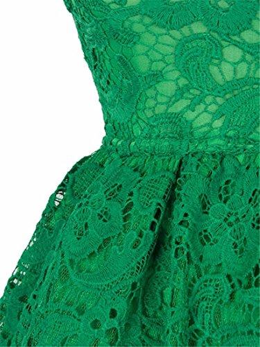 Court Vert Robe Princesse Prom Blanc L Mode Slim Dentelle Cocktail Soiree SFxOdgO