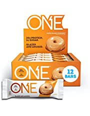 ONE Protein Bars, Maple Glazed Doughnut, Gluten Free Protein Bars with 20g Protein and only 1g Sugar, Snacking for High Protein Diets, 60g (12 Pack) [Packaging May Vary]