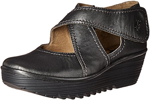 Fly London Women's Rafe657fly Wedge Pump - Graphite Borgo...