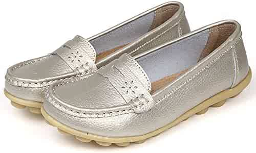2ead60aa8a0 CLAKION Lucksender Womens Soft Leather Comfort Driving Loafers Boat Shoes