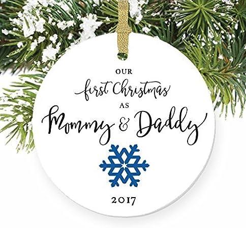 Personnalisé Premier Noël dans notre nouvelle maison arbre pendaison décoration cadeau