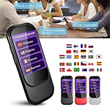 2.4-inch Portable Touch Screen Language Translator Device - Support 28 Languages WiFi & 4G Smart Real Time Instant Voice Translation,Black