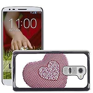 Etui Housse Coque de Protection Cover Rigide pour // M00153245 Corazón rojo del amor Regalo Blanca // LG G2 D800 D802 D802TA D803 VS980 LS980