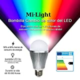 Mi-Light Expansion Bulb: E27 LED 9W 1.6 Million Colour Warm White Bulb for Mi-Light Dimmable Wi-Fi, 2.4Ghz RF Remote, Android and iPhone Control System [Energy Class A]
