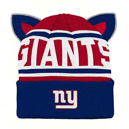 Outerstuff NFL New York Giants Team Ears Fleece Knit Hat Dark Royal e978cfca5