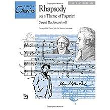 Rhapsody on a Theme of Paganini: Sheet