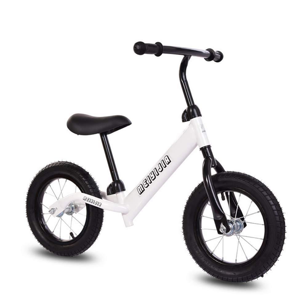 para barato ZNDDB Bicicleta Sin Pedales Bicicleta Ajustable para para para Niños De 12 Pulgadas De Altura, Neumático Amortiguador, Cuadro Liviano, Niños De 2 A 6 Años,White  Garantía 100% de ajuste