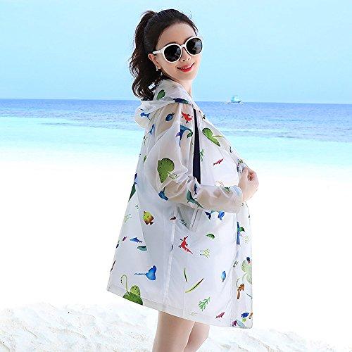 bambino Cappuccio Fashion Sottile femmina Con Solare Printing Zaypj Cardigan Abbigliamento Protezione M Xrxy Scialle dimensioni Summer bambini Genitore Traspirante qwRWZXEO