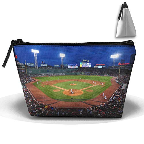 pengyong Fenway Ballpark Makeup Bag Large Trapezoidal Storage Travel Bag Wash Cosmetic Pouch Pencil Holder Zipper Waterproof
