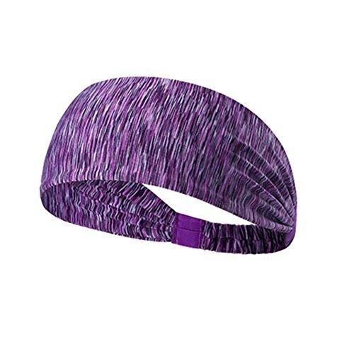 Lisianthus Unisex Sweatband Sports Headband Purple (Wrap Machine Used Stretch)
