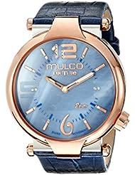 MULCO Womens MW5-3183-043 Couture Slim Analog Display Swiss Quartz Blue Watch