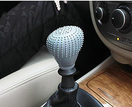 Car Shift Knob Cover Car Vehicle Round Soft Silicone Anti-slip Lever Gear Shift Knob Cover Fashion Color Shift Knob Boots Pink