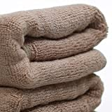 Royal Bamboo Bamboo Fibre and Cotton European Style Towel - Set of 4 - 13*30 Inches Brown