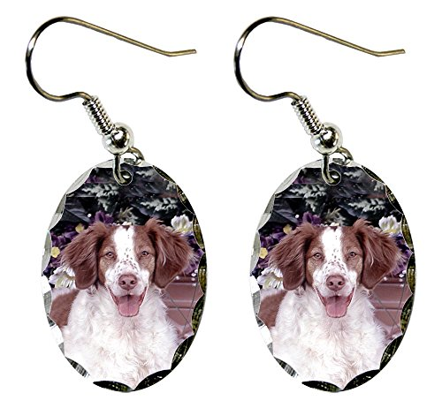 (Canine Designs Brittany Spaniel Scalloped Edge Oval)