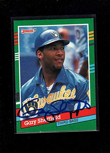 Donruss Autographed 1991 Card - 1991 Donruss #751 Gary Sheffield Authentic Autograph Signature Ay0283 - Baseball Slabbed Autographed Cards