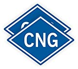 (2) 5-inch CNG Vinyl Stickers | Compressed Natural Gas Decals | Container Labels | Vinyl Markers - Pair