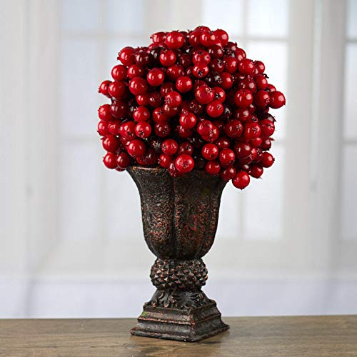- Factory Direct Craft Red Artificial Berry Topiary Planter
