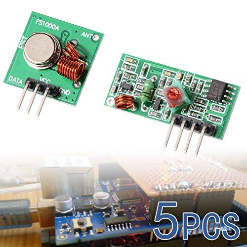 XCSOURCE 5 PCS 433Mhz RF Transmitter Module + Receiver Kit for Arduino ARM MCU WL TE122