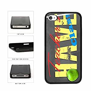 Gift Teachers Have Class with Chalk and Apple Plastic Phone Case Back Cover Apple iPhone 5 5s includes diy case Cloth and Warranty Label