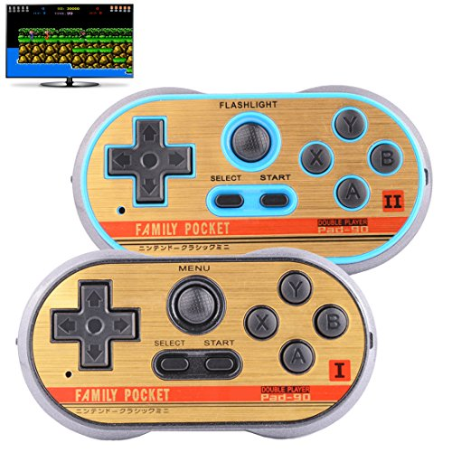 Retro Games Controller Mini Classic Handheld Game Console Toys for Kids Gamepad Joystick Support Dual battle Load in 260 TV Video Games Childhood Plug & Play Gaming Station (Black+Blue) (Tv Play Game)