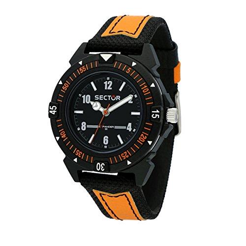 SECTOR Men's Expander 90 Analog-Quartz Leather Strap, Black, 18 Casual Watch (Model: R3251197057