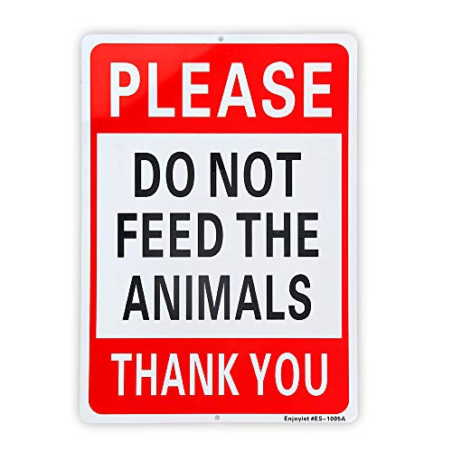 Please Do Not Feed The Animals Sign - 10